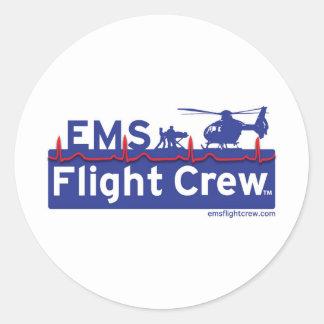 EMS Flight Crew Helicopter Alternate Logo Classic Round Sticker