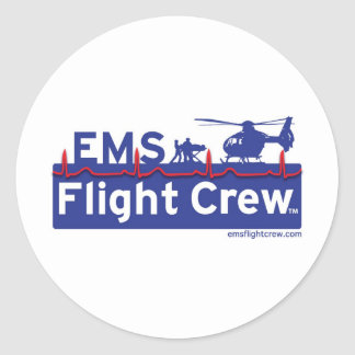 EMS Flight Crew - New Classic Round Sticker