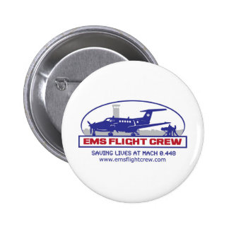 EMS Flight Crew Turboprop Pinback Button