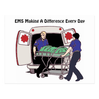 EMS Making a Difference Every Day Postcard