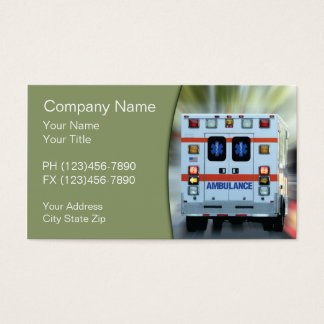 EMS Medical Emergency Business Card