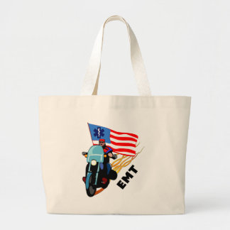 EMT Biker Large Tote Bag