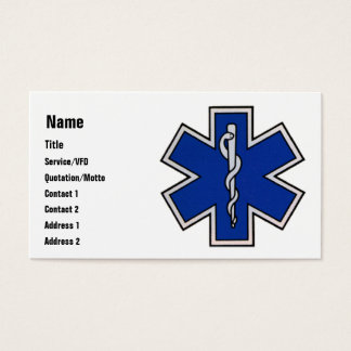 EMT Business Card Template
