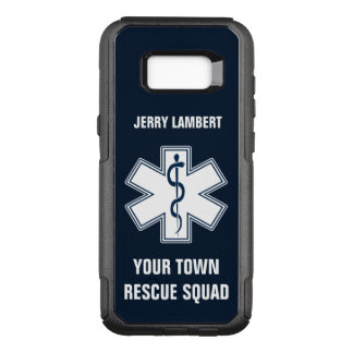 EMT EMS Paramedic Name and Squad OtterBox Commuter Samsung Galaxy S8+ Case
