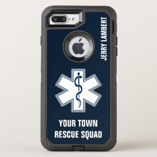EMT EMS Paramedic Name and Squad OtterBox Defender iPhone 8 Plus/7 Plus Case