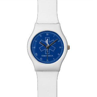 EMT Paramedic Symbol Custom Watch