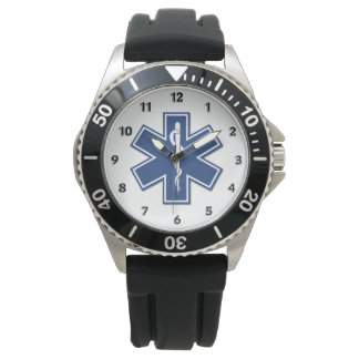 EMT Paramedics EMS Star of Life Watches