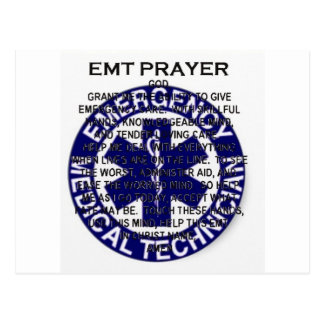 EMT Prayer Postcard