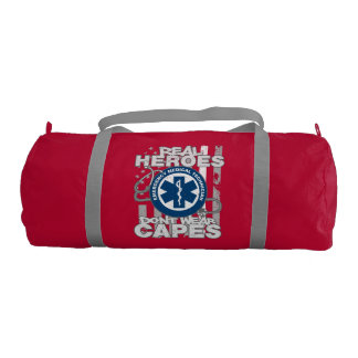 EMT Real Heroes Don't Wear Capes Gym Duffel Bag
