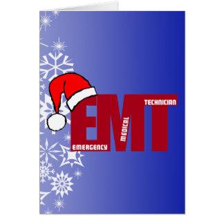 EMT SANTA - CHRISTMAS EMERGENCY MEDICAL TECHNICIAN CARD