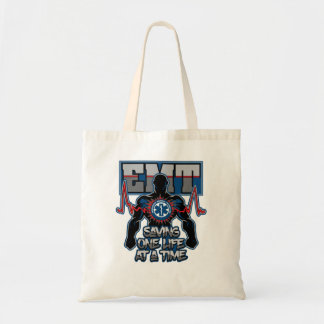 EMT Saving One Live at a Time Tote Bag