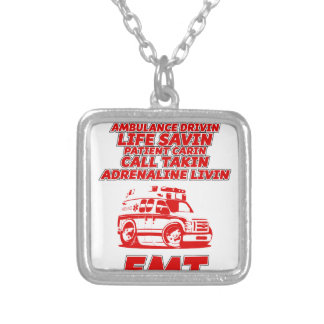 emt silver plated necklace