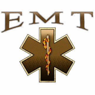 EMT - Star of Life in Brown Photo Cutout