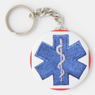 EMT Star of Life Keychain