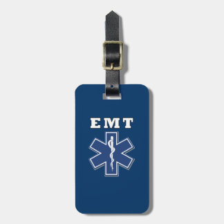 EMT Star of Life Luggage Tag