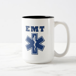 EMT Star of Life Two-Tone Coffee Mug