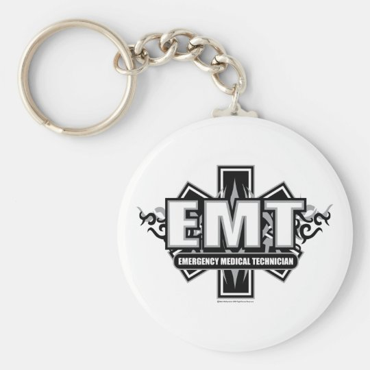 EMT Tribal Basic Round Button Key Ring