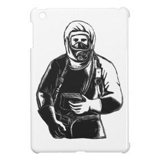 EMT Wearing Hazmat Suit Scratchboard Cover For The iPad Mini
