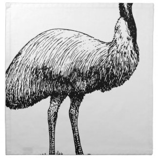 Emu Bird Napkin