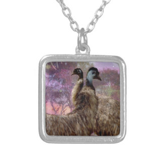 Emu Dreaming Silver Plated Necklace