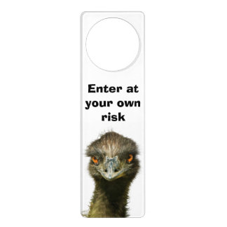 Emu Risk Enter Door Knob Hangers