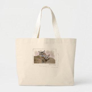 "[EN] Cat Nyacchi Nola [JP] cat ""ya tsu chi"" ""nora Large Tote Bag"