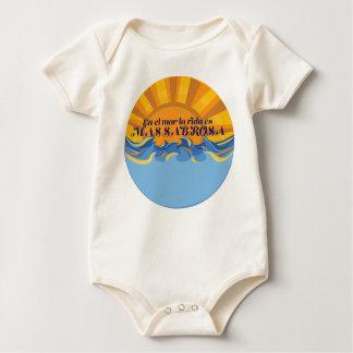 """""""En el mar la vida es mas sabrosa"""" Baby Bodysuit"""