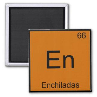 En - Enchiladas Funny Chemistry Element Symbol Tee Square Magnet