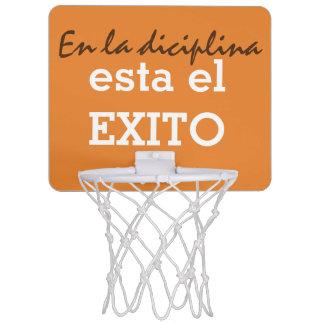 en la diciplina esta el exito mini basketball hoop