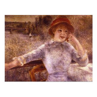En la Grenouillere by Pierre Renoir Postcard