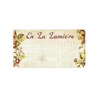 En La Lumiere 1.25 x 2.375 Shipping September 2012 Address Label