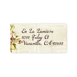 En La Lumiere Return Address September 2012 Address Label