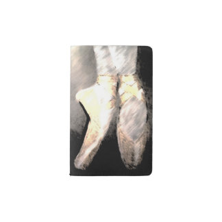 En Pointe ballet shoes notepad Pocket Moleskine Notebook