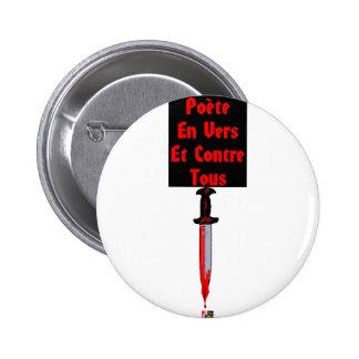 En Vers et Contre Tous - Jeux de Mots Francois Badge Avec Épingle