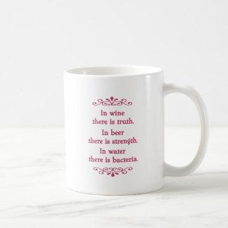 En Vino Veritas -cf-L Classic White Coffee Mug
