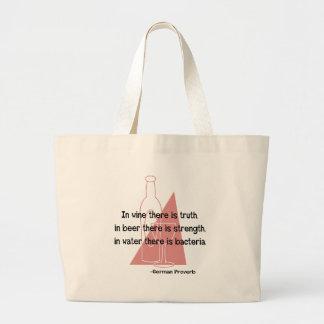 En Vino Veritas -retro Tote Bags