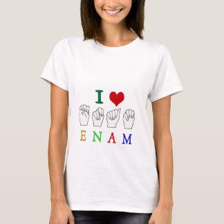ENAM FINGERSPELLED ASL NAME SIGN T-Shirt