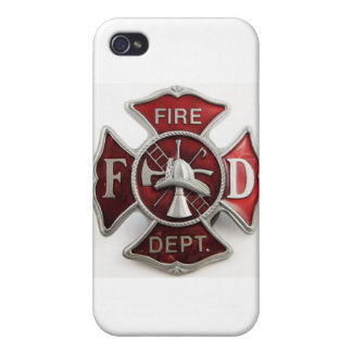 'enamel' fire dept insignia iPhone 4/4S covers
