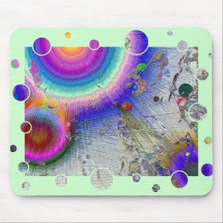 Enamel Sunburst White Frame Mouse Pad