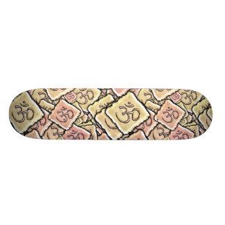 Enamel Tile Om (Aum) 21.6 Cm Old School Skateboard Deck