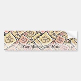 Enamel Tile Om (Aum) Bumper Sticker