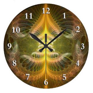 Enameled Brass Tray Large Clock