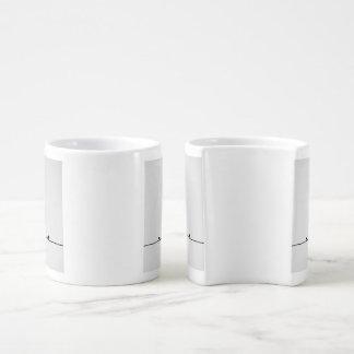 Enamored birds couple mugs
