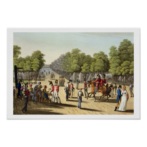 Encampment of the British Army in the Bois de Boul Posters