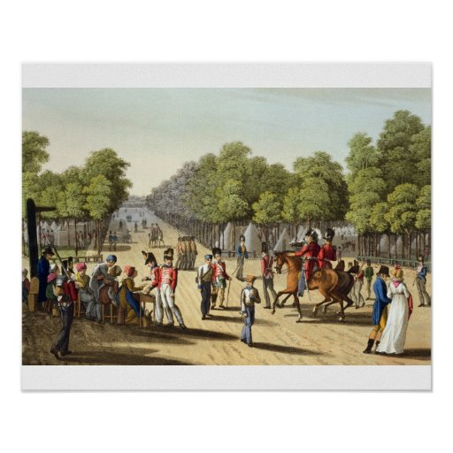 Encampment of the British Army in the Bois de Boul Print