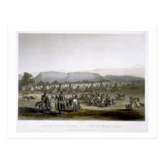 Encampment of the Piekann Indians, plate 43 from V Postcard