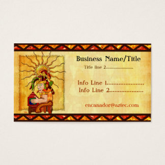 Encantador De Serpientes AZTEC TRADING POST TATTOO Business Card