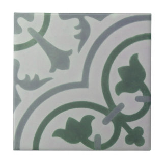 Encaustic Cement Tile in Shades of Gray