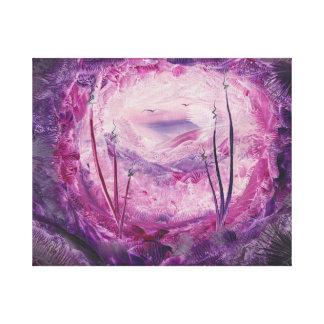 Encaustic Fantasy Art. Cave. Gallery Wrap Canvas