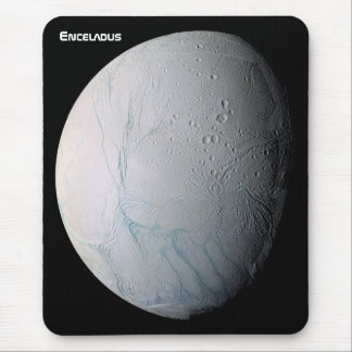 Enceladus 6th Moon of Saturn Mouse Pad
